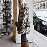 The look is simple enough, but key pieces, like a leopard coat and slouchy boots, made it a standout.