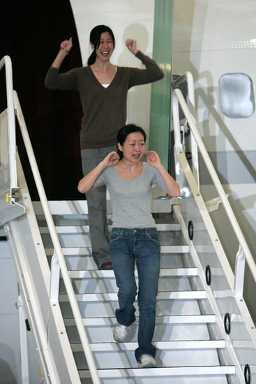 Front Page: Journalists Laura Ling and Euna Lee Arrive Home