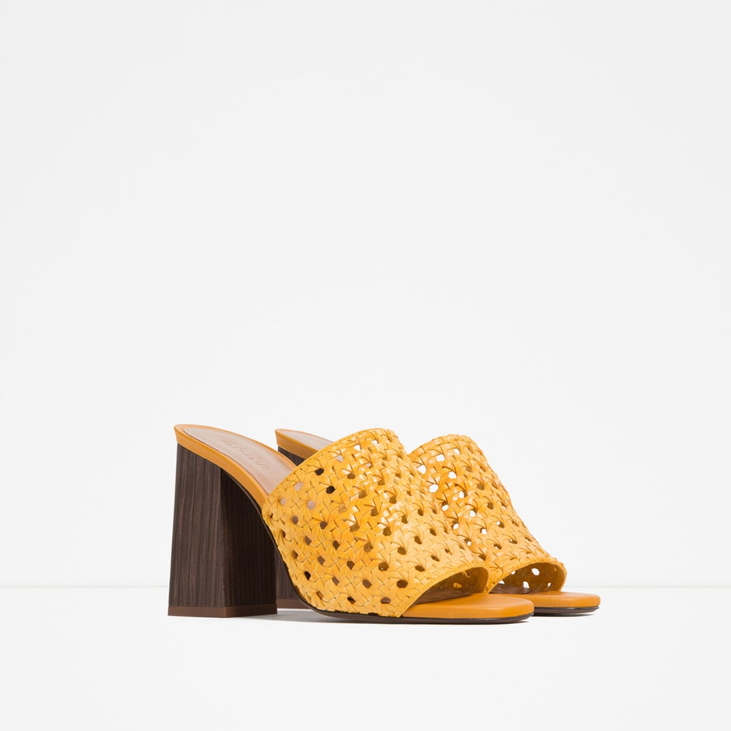 Braided Slingback High-Heel Shoes ($90)