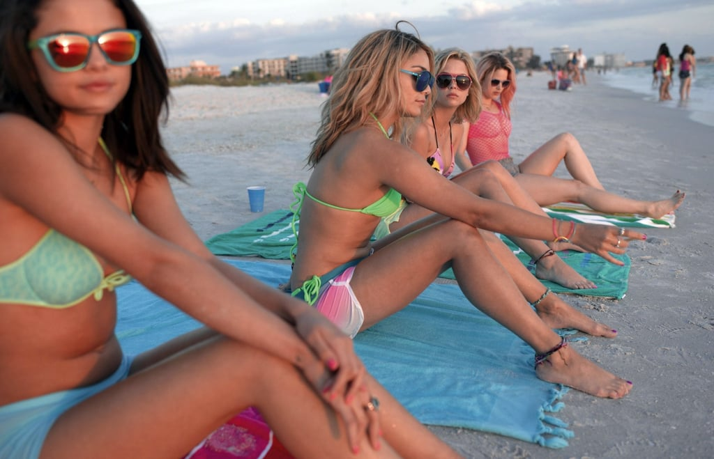 Vanessa Hudgens, Selena Gomez, Ashley Benson, and Rachel Korine in Spring Breakers