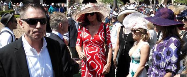 Caitlyn Jenner's Outfit at Del Mar Racetrack