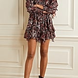 Ulla Johnson Natalia Ruffled Printed Fil Coupé Silk And Lurex-Blend Mini Dress