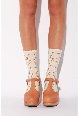 Channel your inner child via these Betsey Johnson Rosebud Crew Socks ($14).