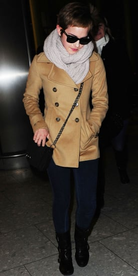 Pictures of Emma Watson at Heathrow Airport Amid Harry Potter and the Deathly Hallows Reshoot Rumours