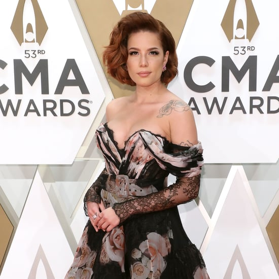 Halsey's Stuns in Off-the-ShoulderDress at the CMA Awards