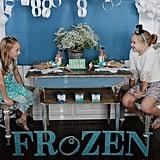 DIY Glitter Frozen Sign