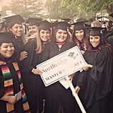 Eva Longoria posed with classmates at her graduation. Source: WhoSay user EvaLongoria