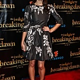 Ashley Green rocked a black dress with a floral pattern to the Breaking Dawn Part 2 party at Comic-Con.
