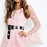 Boutique Heavy Crochet Lace Up Playsuit ($39.50)