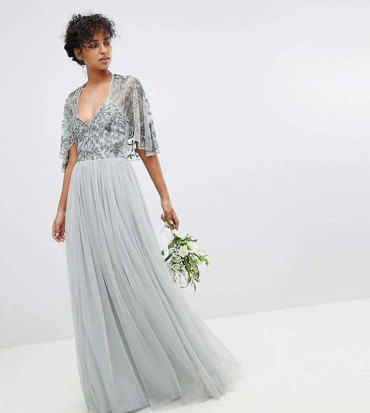 e06bfd36 Maya Sequin Cape Tulle Skirt Maxi Bridesmaid Dress | ASOS Maya ...