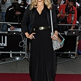 A moody black dress with a metallic belt was Suki's choice for the GQ Men of the Year Awards in 2012.