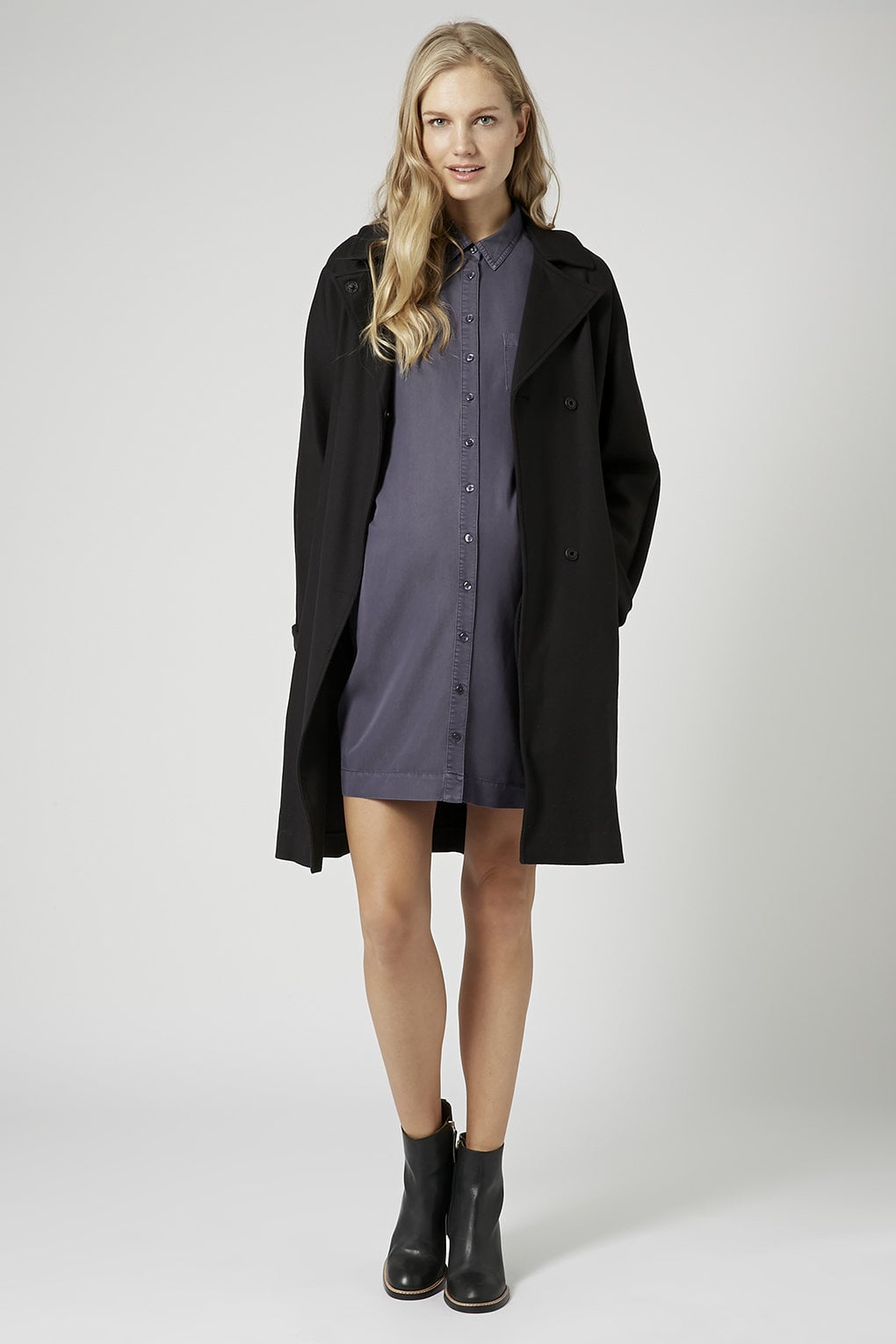 Topshop Tencel Shirtdress