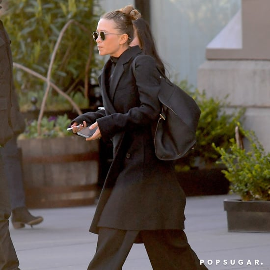 Mary-Kate Olsen Wearing Black Pants