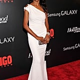 Django Unchained actress Nichole Galicia looked gorgeous in a white one-shouldered gown paired with elegant jewels.