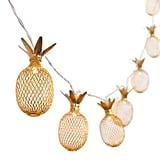 Gold Metal Mesh Pineapple LED Lantern String Lights