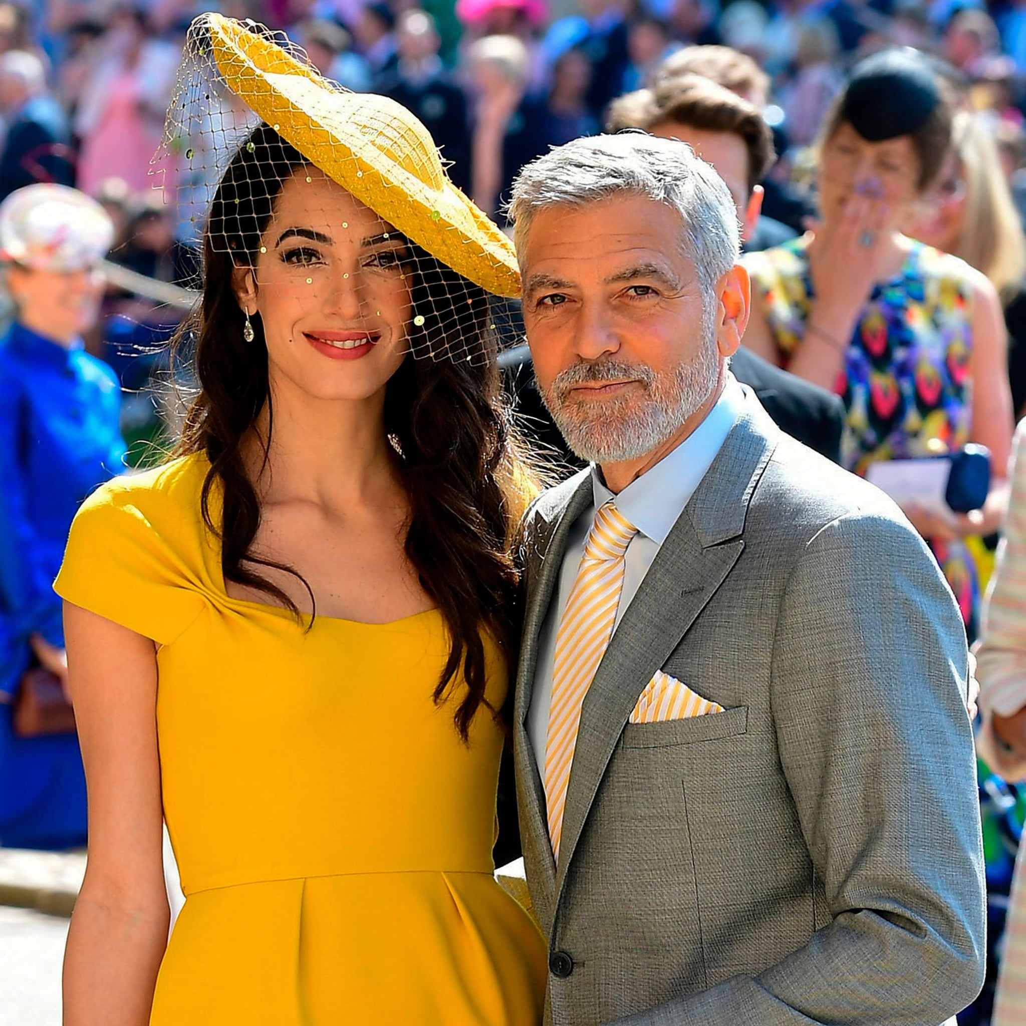 81f8c26f53476 George and Amal Clooney at Royal Wedding 2018 Pictures