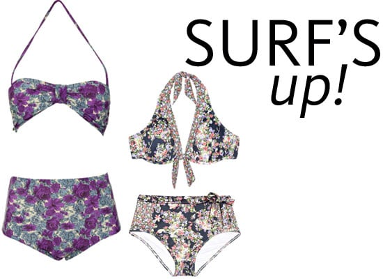 Top Five High Waisted Floral Bikinis We Found Online, from Jets, Seafolly, Billabong and more!