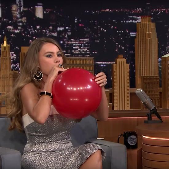 Sofia Vergara Inhaling Helium on The Tonight Show | Video