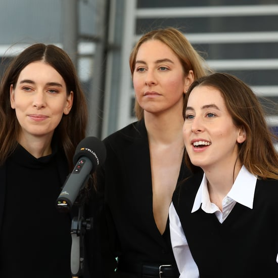 Haim Sang Craig David on the 2021 BRIT Awards Red Carpet