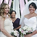 Miranda Bailey filling in for the minister at the last minute is the perfect touch.