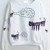 Cat Print Loose Sweatshirt ($22)