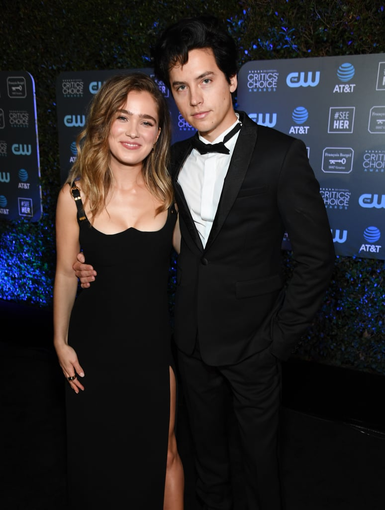 Pictured: Haley Lu Richardson and Cole Sprouse