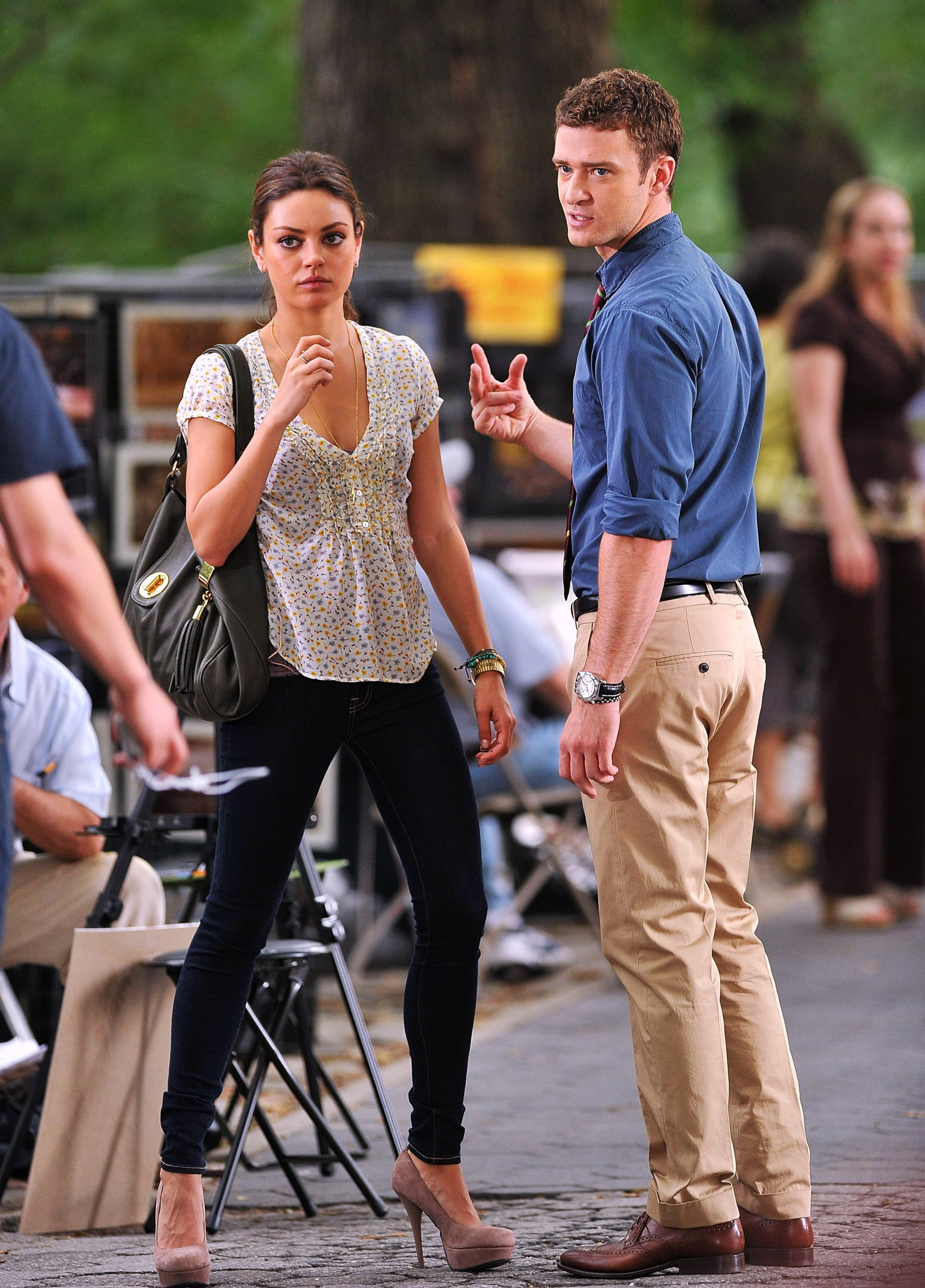 Pictures Of Justin Timberlake And Mila Kunis Filming