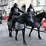 Behold: royal horses.