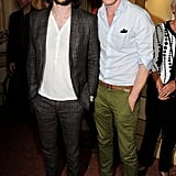 Tom Sturridge and Eddie Redmayne hung out after a performance of A Doll's House in London in August 2013.