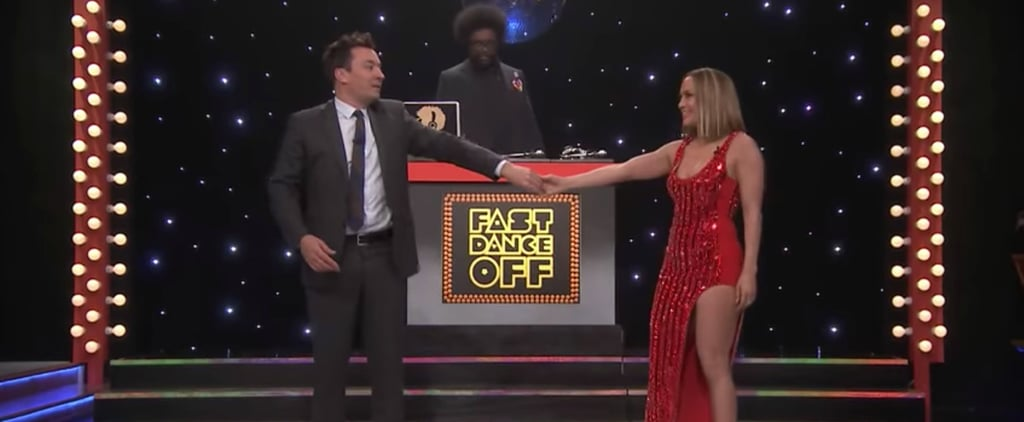 Jimmy Fallon and J Lo in Fast Dance Off