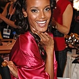 Selita Ebanks looked totally glowing backstage in 2007.