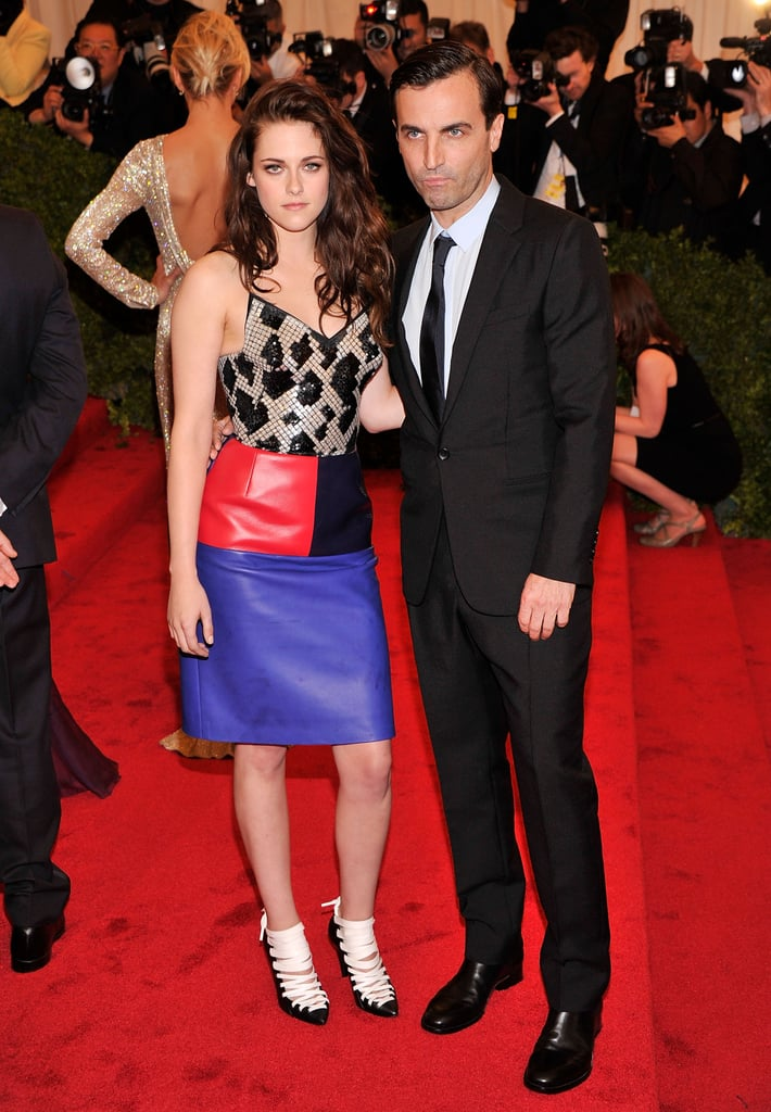 Kristen Stewart showed up to the Met Gala with Balenciaga designer Nicolas Ghesquiere.