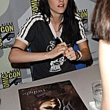 Kristen Stewart signed autographs for fans in 2008.