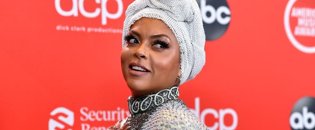 Taraji P. Henson's Armani Dress and Head Wrap at the AMAs