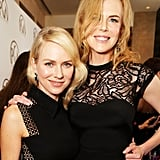 Nicole Kidman and Naomi Watts buddied up at the Producers Guild Awards.