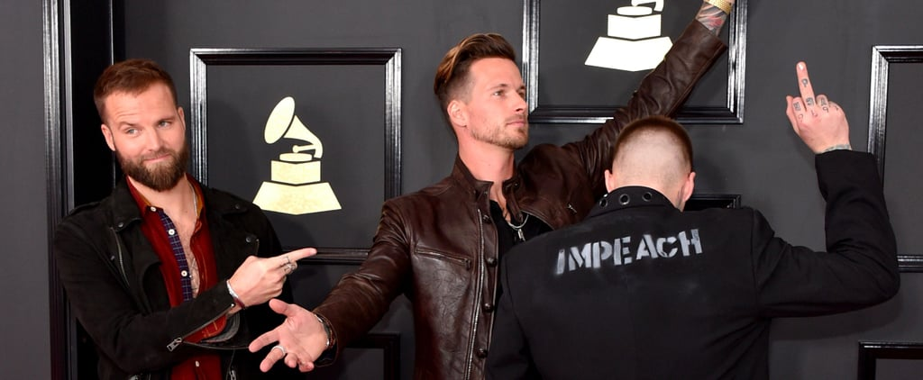 Highly Suspect Made a Bold Statement About Trump on the Grammys Red Carpet