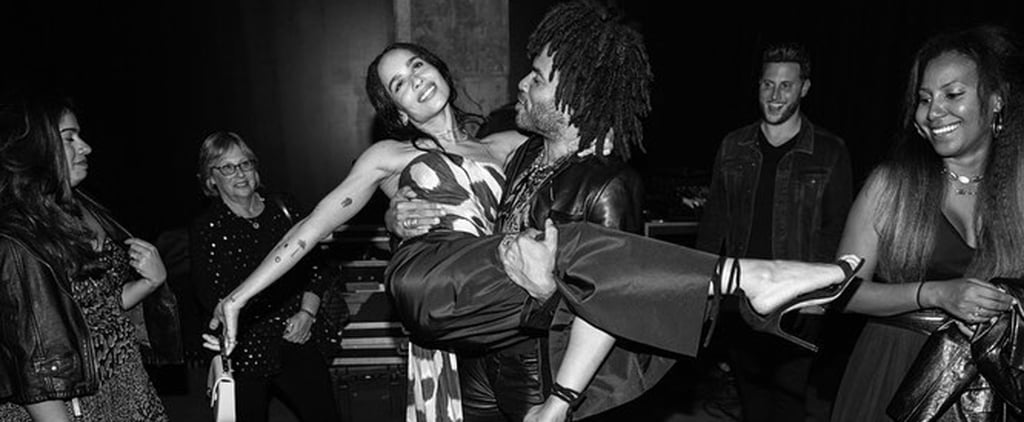 Zoë Kravitz and Lenny Kravitz at Exhibition Opening 2018