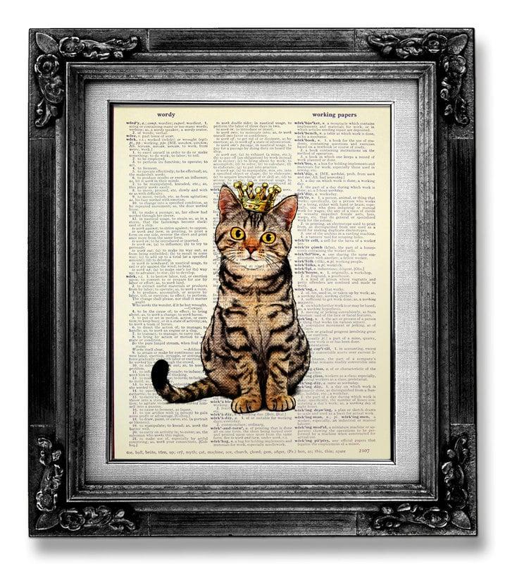 Tabby Cat Wall Art ($12)