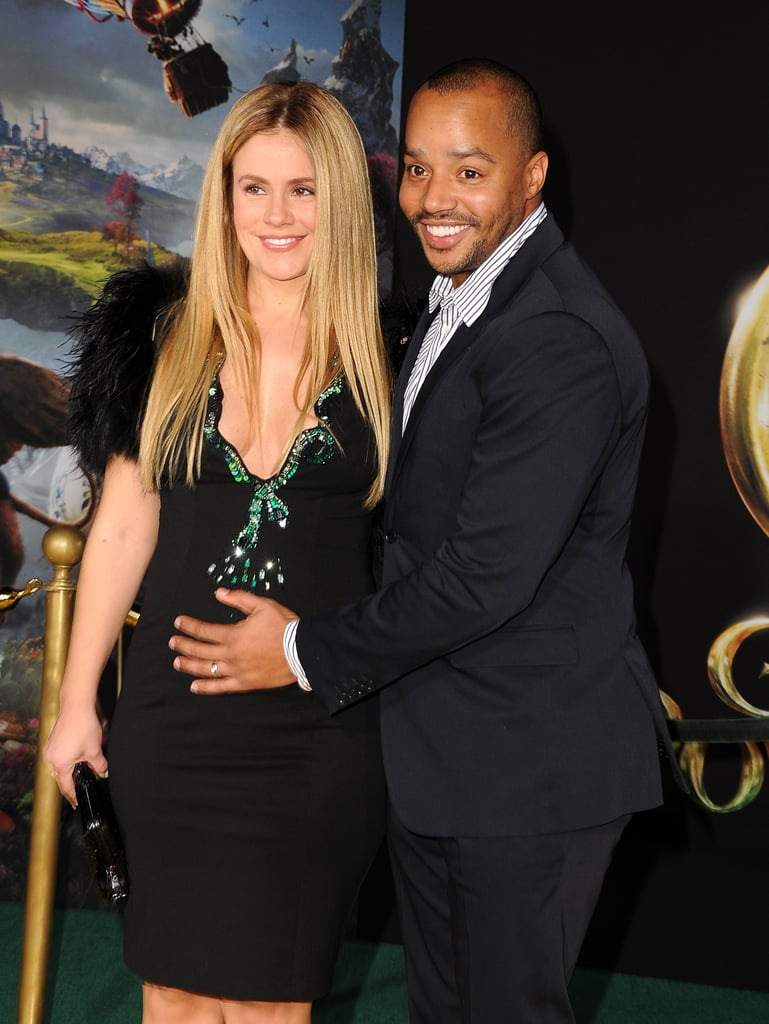 Donald Faison and pregnant wife CaCee Cobb came out to support their friend Zach Braff.