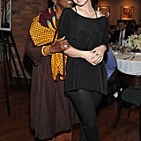 Bethann Hardison hid behind Olivia Wilde at the 2012 Tribeca Film Festival Jury lunch.