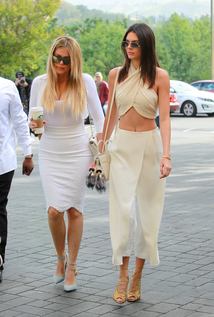 Kendall Wore These Golden Lace-Ups to Sunday Morning Mass on Easter