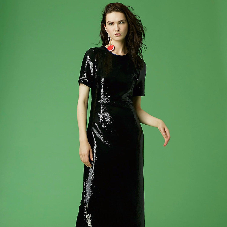 ec3048354def Boohoo Ruffle Trim Star Print Mesh Minidress | Black Party Dresses |  POPSUGAR Fashion Photo 8