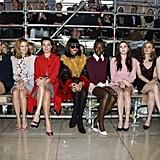 Rihanna and Lupita Nyong'o sat together in the front row at Paris Fashion Week.