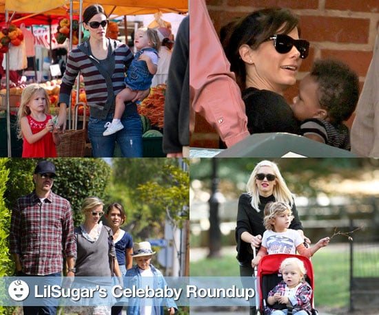 Pictures of Sandra Bullock, Jennifer Garner, Gwen Stefani, and Reese Witherspoon With Their Kids