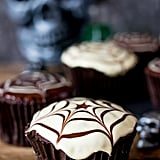 Spider Web Chocolate Cupcakes
