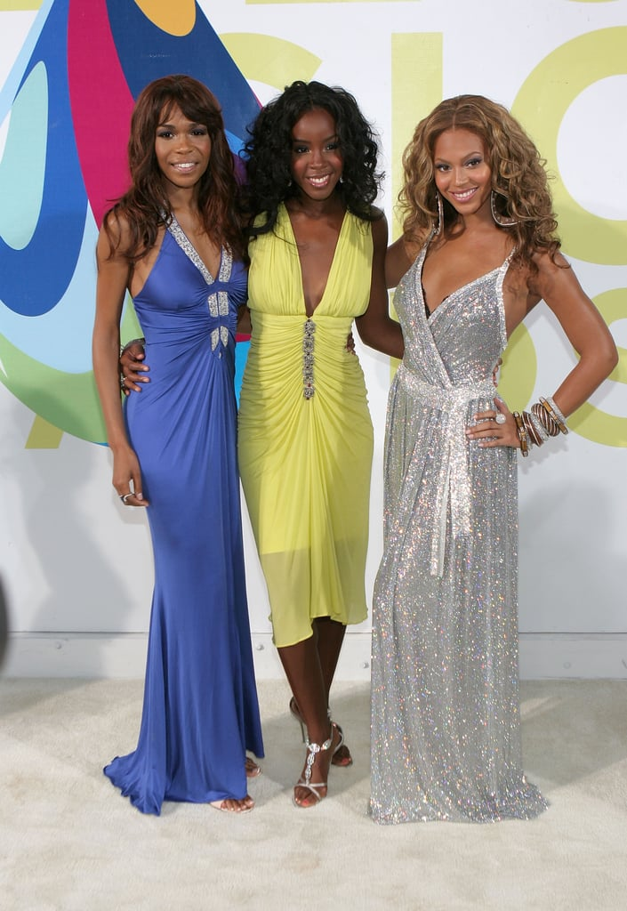 2005: Despite having already gone solo, Beyoncé attended the VMAs one last time with Destiny's Child.