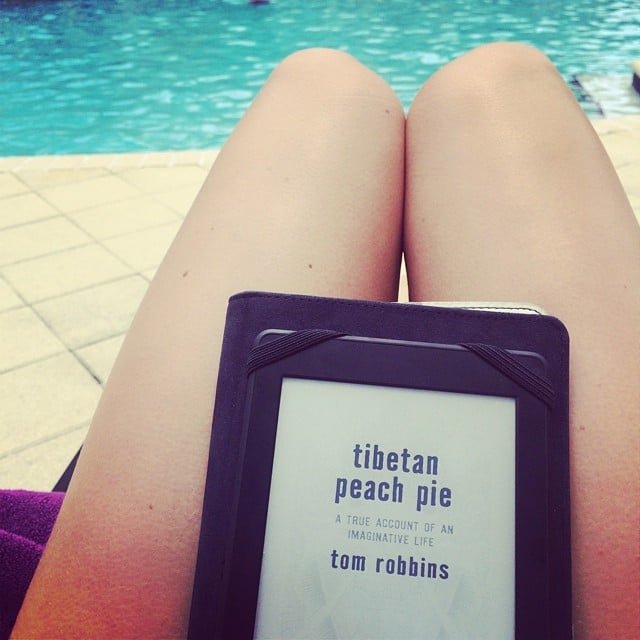 """""""Pool party with Tom Robbins."""""""