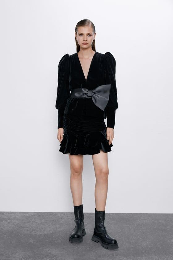 Zara Velvet Bow Jacket