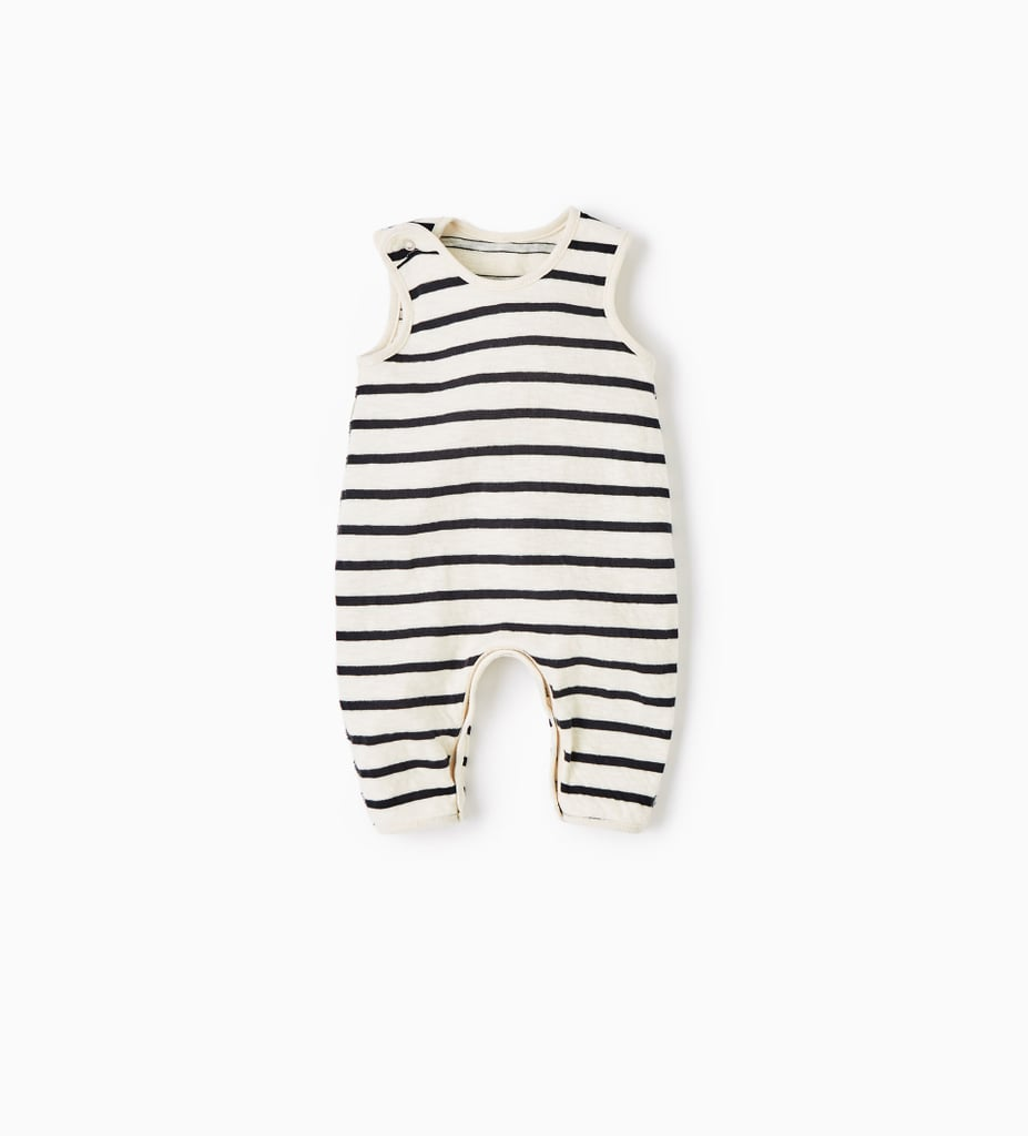 Zara Mini Reversible Striped Jumpsuit