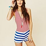 We can't think of a better striped piece for a day at the beach.  Washborn Striped Romper ($88)